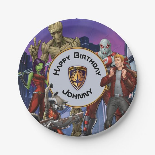 Marvel | Guardians of the Galaxy - Birthday 7 Inch Paper Plate