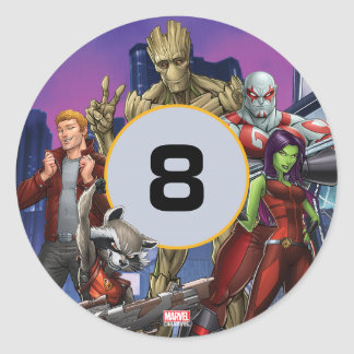 Marvel | Guardians of the Galaxy - Birthday Classic Round Sticker