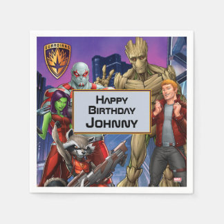 Marvel | Guardians of the Galaxy - Birthday Paper Napkin