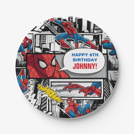 Marvel | Spiderman - Birthday 7 Inch Paper Plate