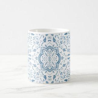 Marvellous Vintage Blue Tile Pattern Mug