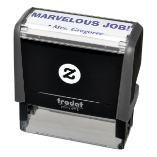 """MARVELOUS JOB!"" Acknowledgement Rubber Stamp"