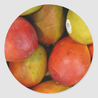 Marvelous mangoes classic round sticker