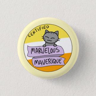 Marvelous Maverique 1 Inch Round Button