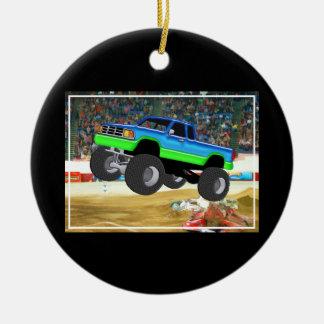 Marvelous Monster Truck in the Arena Ceramic Ornament