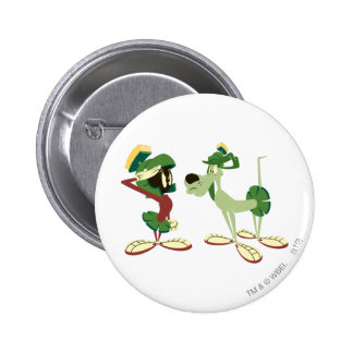 MARVIN THE MARTIAN™ and K-9 2 2 Inch Round Button