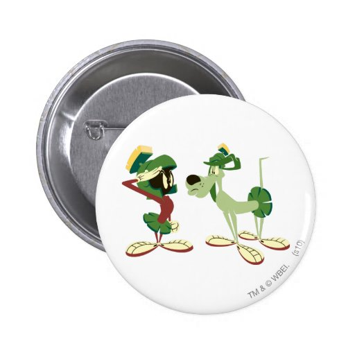 Marvin the Martian and K-9 2 Button