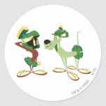 MARVIN THE MARTIAN™ and K-9 2 Round Stickers