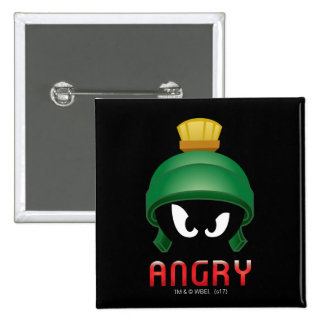 MARVIN THE MARTIAN™ Angry Emoji 2 Inch Square Button