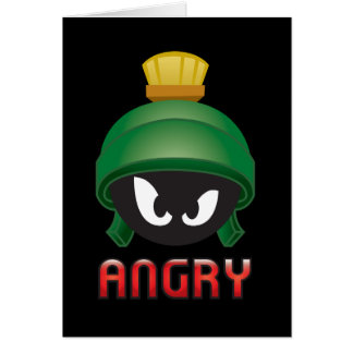 MARVIN THE MARTIAN™ Angry Emoji Card