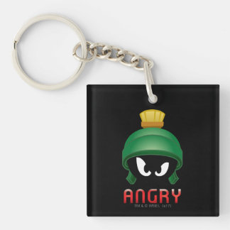 MARVIN THE MARTIAN™ Angry Emoji Double-Sided Square Acrylic Keychain