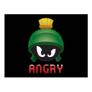 MARVIN THE MARTIAN™ Angry Emoji Postcard