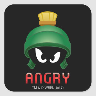 MARVIN THE MARTIAN™ Angry Emoji Square Sticker