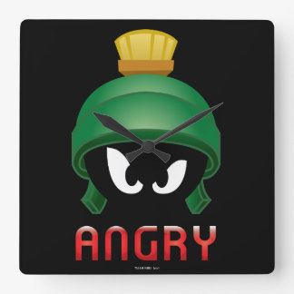 MARVIN THE MARTIAN™ Angry Emoji Square Wall Clock