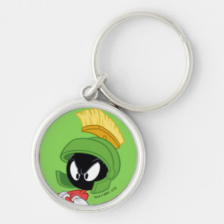MARVIN THE MARTIAN™ | Arms Crossed Silver-Colored Round Keychain