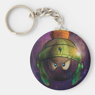 MARVIN THE MARTIAN™ Battle Hardened Basic Round Button Keychain