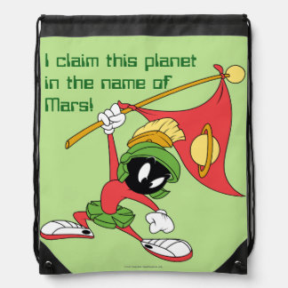 MARVIN THE MARTIAN™ Claiming Planet Drawstring Bag