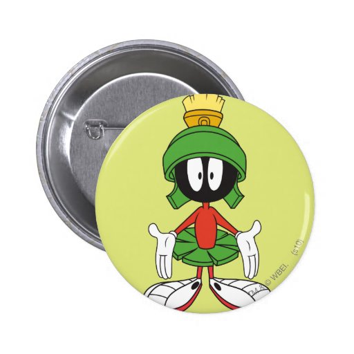 Marvin the Martian Confused Pinback Buttons