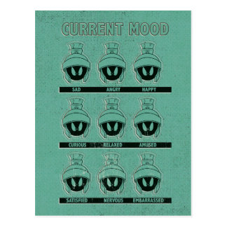 MARVIN THE MARTIAN™ Current Mood Chart Postcard