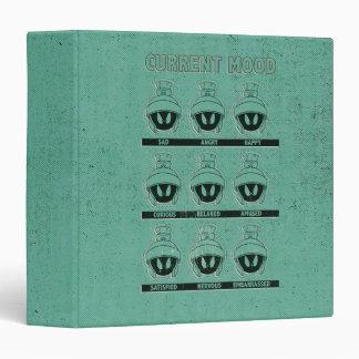 MARVIN THE MARTIAN™ Current Mood Chart Vinyl Binders