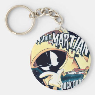 MARVIN THE MARTIAN™, DAFFY DUCK™ and Elmer Basic Round Button Keychain