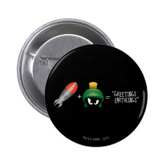 MARVIN THE MARTIAN™ Emoji Equation 2 Inch Round Button