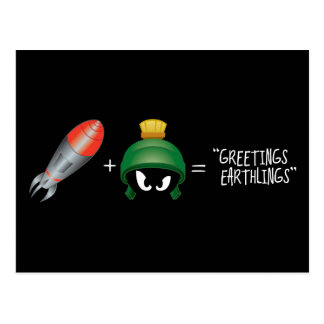 MARVIN THE MARTIAN™ Emoji Equation Postcard
