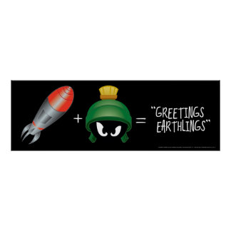 MARVIN THE MARTIAN™ Emoji Equation Poster