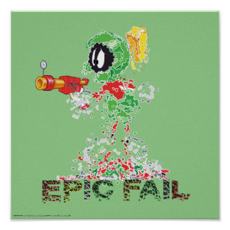 MARVIN THE MARTIAN™ Epic Fail Poster
