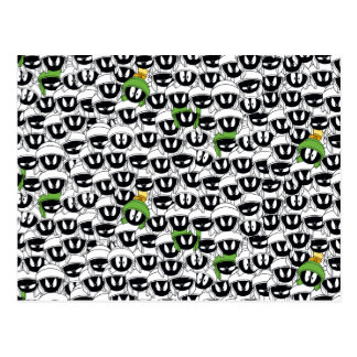 MARVIN THE MARTIAN™ Line Art Color Pop Pattern Postcard