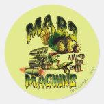 MARVIN THE MARTIAN™ Mars Machine Round Sticker