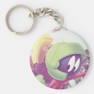 MARVIN THE MARTIAN™ On Vacation Basic Round Button Keychain