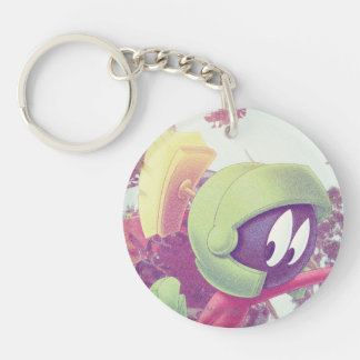 MARVIN THE MARTIAN™ On Vacation Double-Sided Round Acrylic Keychain