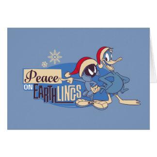 MARVIN THE MARTIAN™- Peace On Earthlings Card
