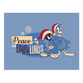 MARVIN THE MARTIAN™- Peace On Earthlings Postcard