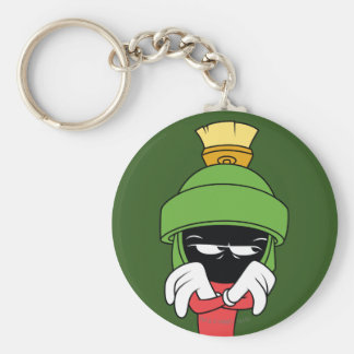 MARVIN THE MARTIAN™ Pout Basic Round Button Keychain