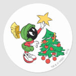 MARVIN THE MARTIAN™ putting star on tree Sticker