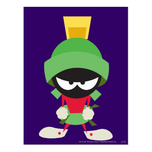Marvin the Martian Ready to Attack Post Card