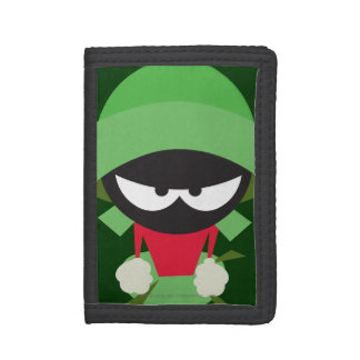 Marvin the Martian Ready to Attack Trifold Wallet