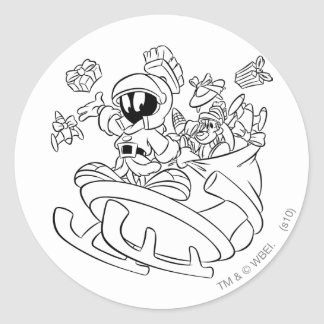 MARVIN THE MARTIAN™ with Toys Classic Round Sticker
