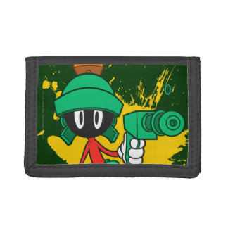 Marvin With Gun Trifold Wallet