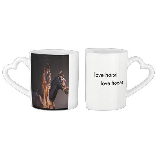marwary horses coffee mug set