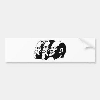 Marx, Engels and Lénin Bumper Sticker
