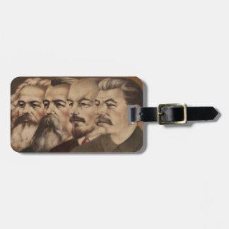Marx, Engels, Lenin, and Stalin Luggage Tag