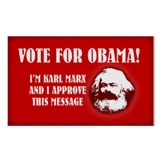 Marx for Obama Poster