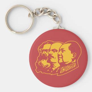 Marx Lenin Mao Portrait Basic Round Button Keychain