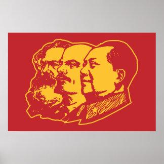 Marx Lenin Mao Portrait Poster