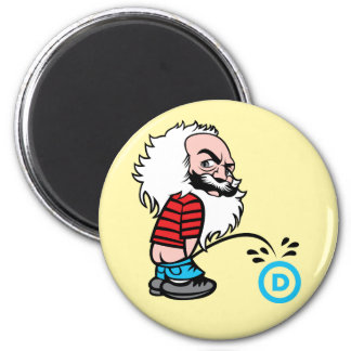Marx Pee on the DNC Magnet