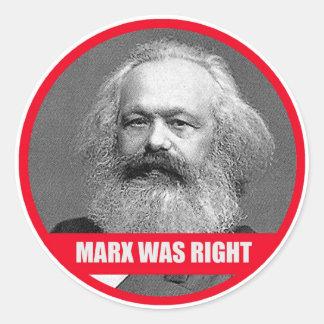 Marx Was Right Round Sticker