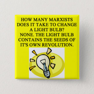 MARXIST 2 INCH SQUARE BUTTON
